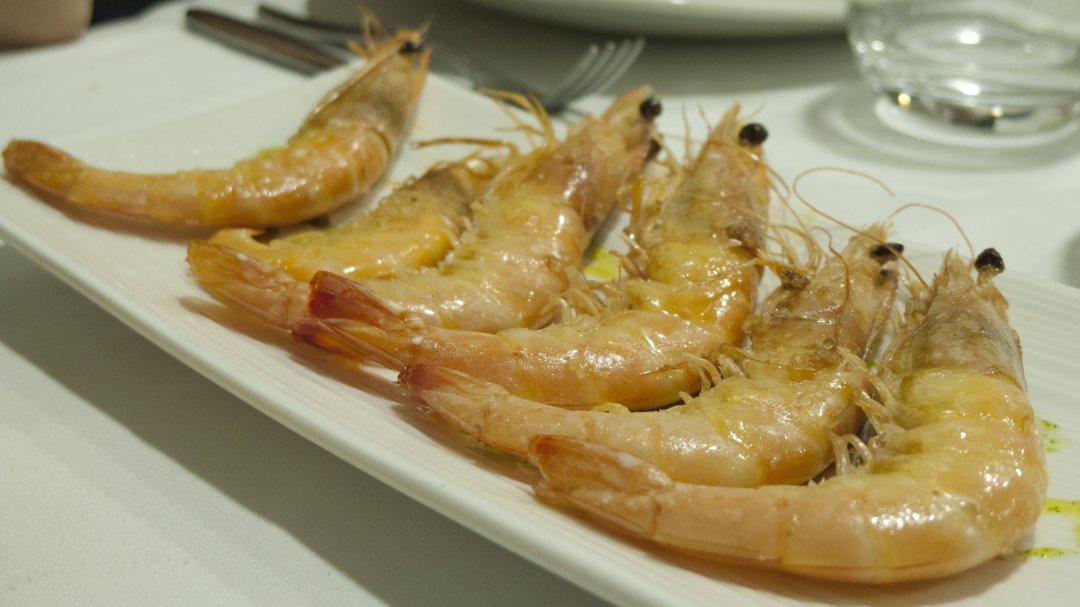 Restaurante Aroa (Lekeitio): langostinos
