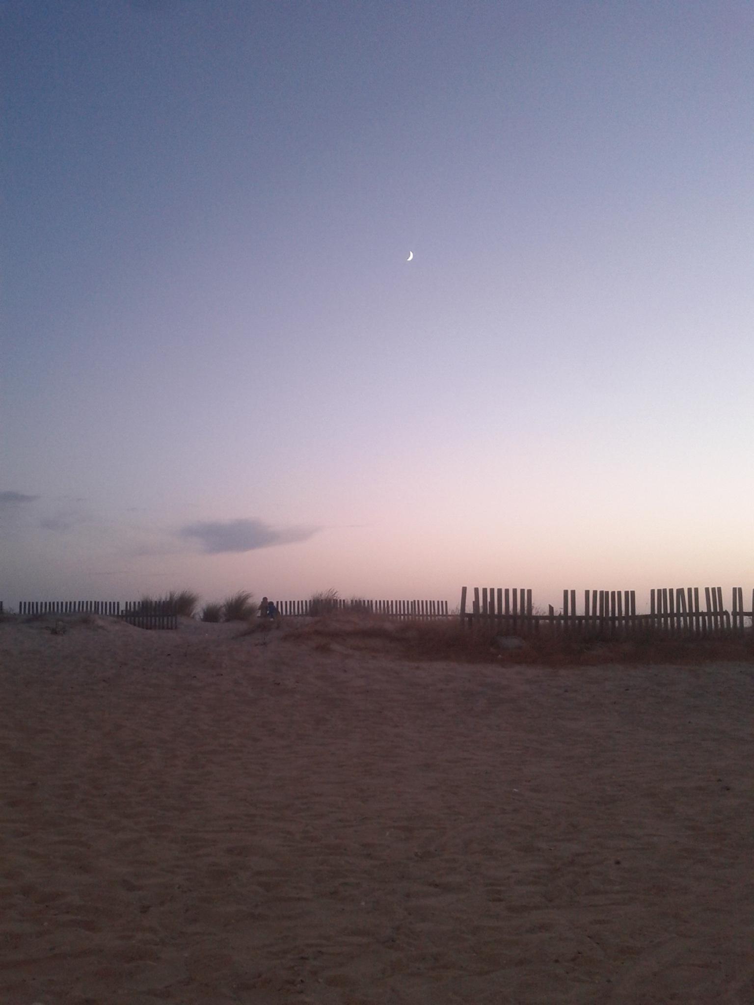 Zahara de los Atunes: foto de la playa al anochecer